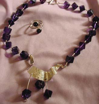 Amethyst Beads & S.S