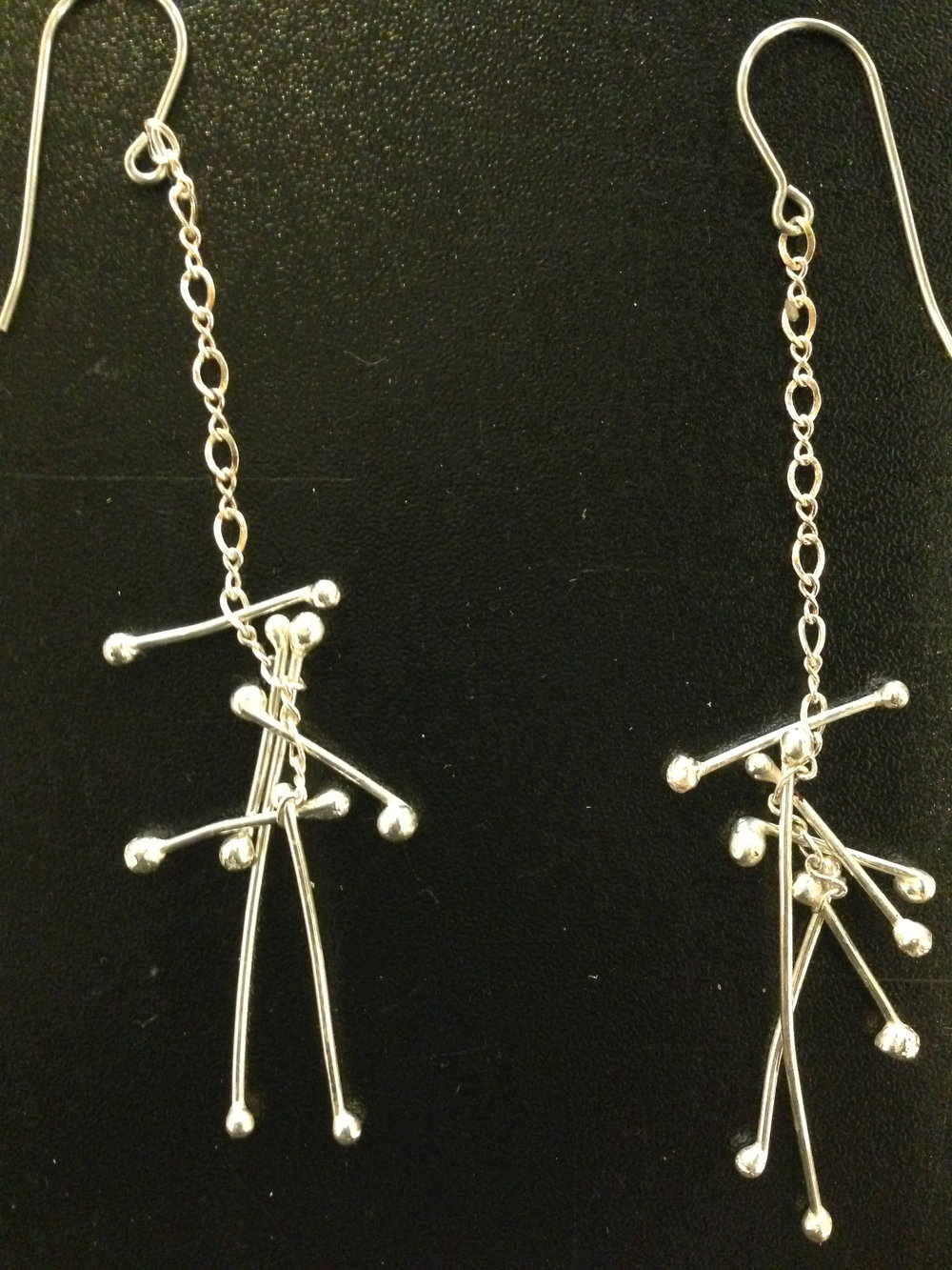These are super fun light weight and all Sterling Silver... Ready to make a pair for YOU! $68