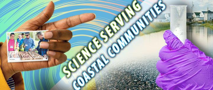 Coast Day poster. Science serving coastal communities.
