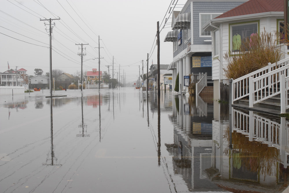 Flooding from nor'easter.