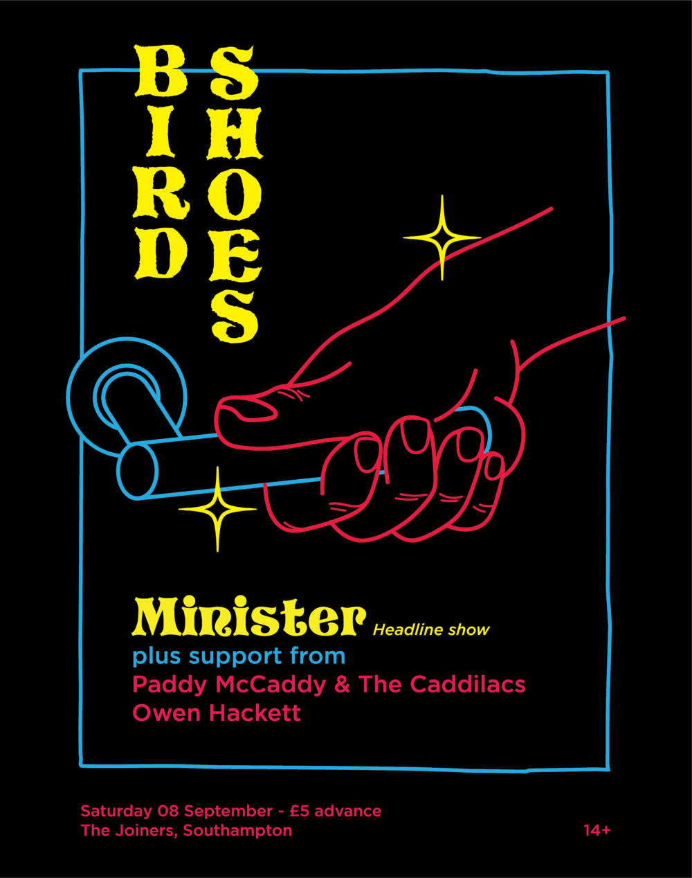 Bird Shoes - Minister headline show.png
