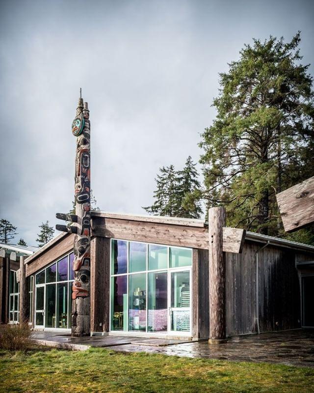 Join us for lunch today at the beautiful Haida Heritage Centre. We open at 11am. ⠀ ⠀ #HaidaGwaii #KayBistro #HaidaHeritageCentre #ExploreBC #fullmoonphoto