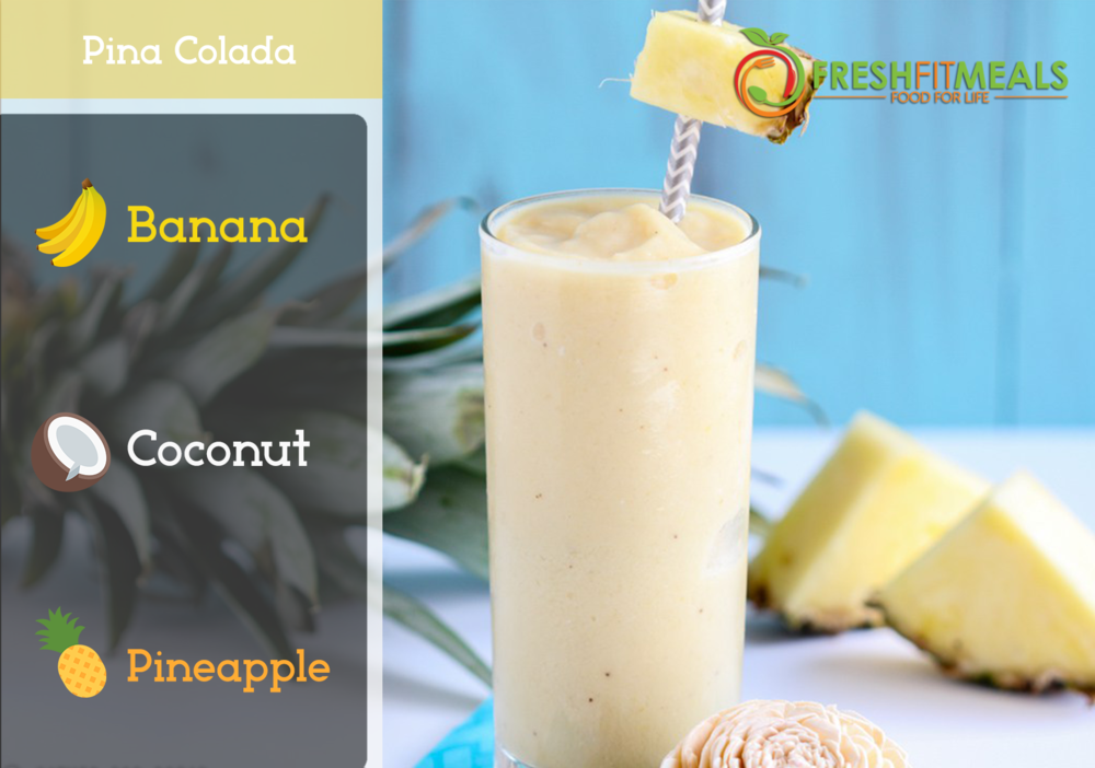 Pineapple, banana, and coconut.