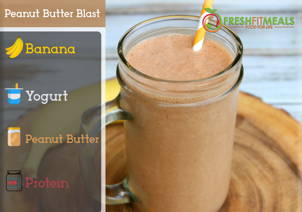 Peanut butter, banana, and yogurt. Add Protein as a boost.
