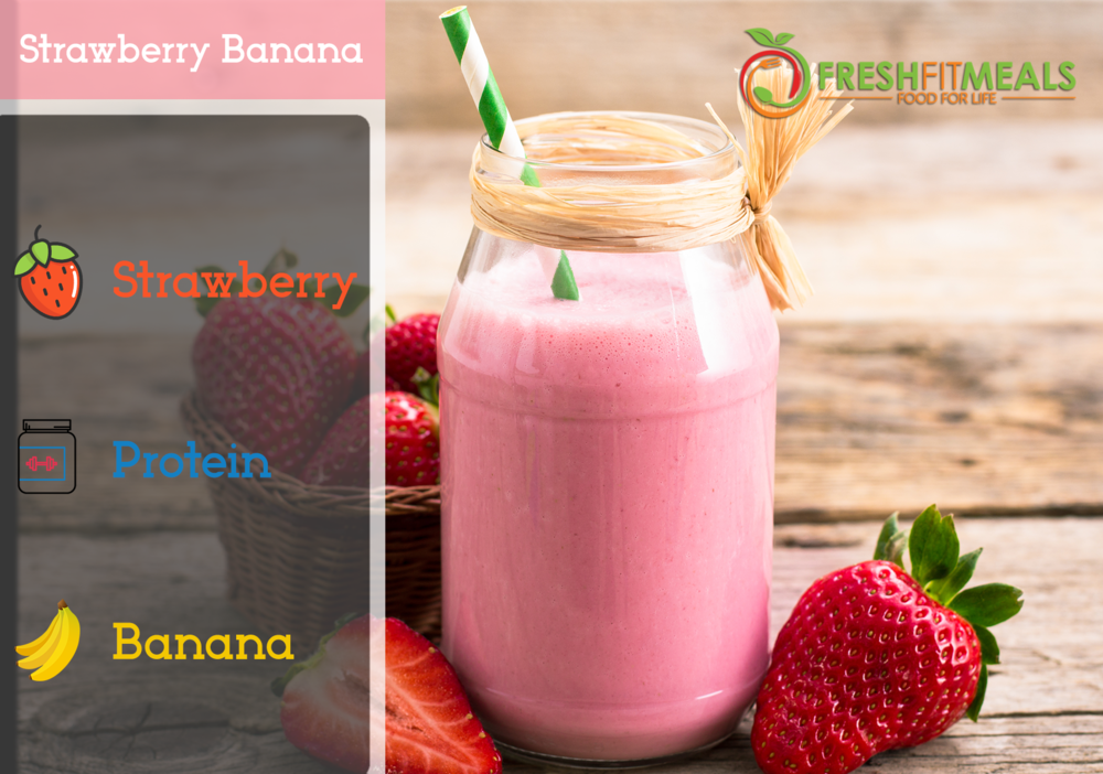Strawberry and banana.
