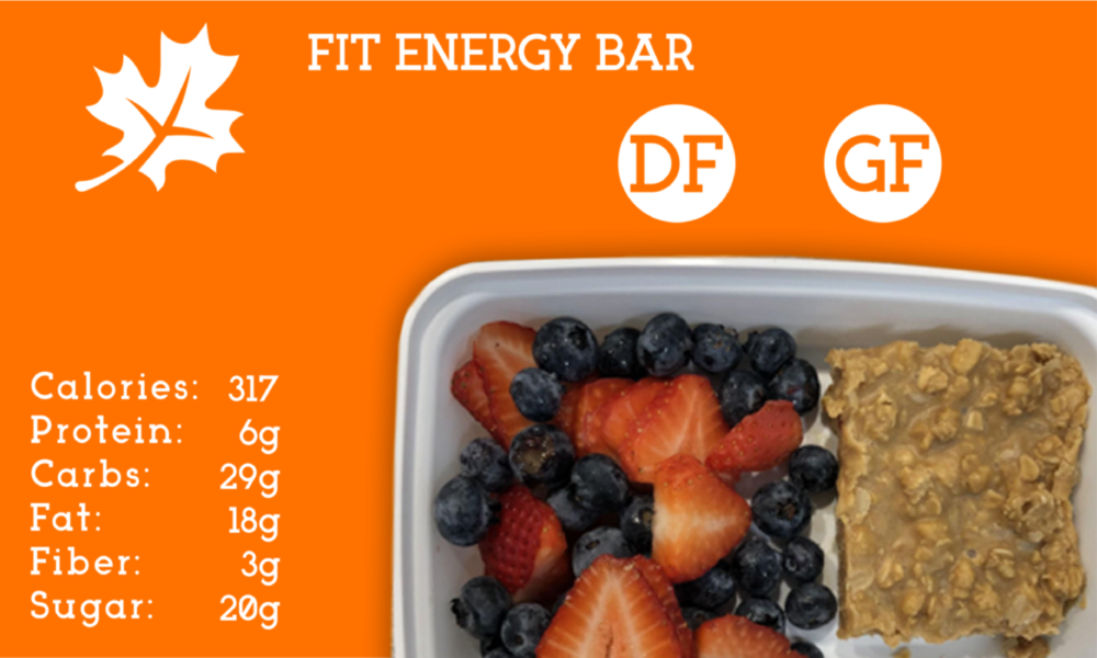 The peanut butter based bar is energized by rich granola, brown rice, goji berries, agave nectar, and coconut oil. This mix will help you get your day going, and is perfect for a snack or breakfast.