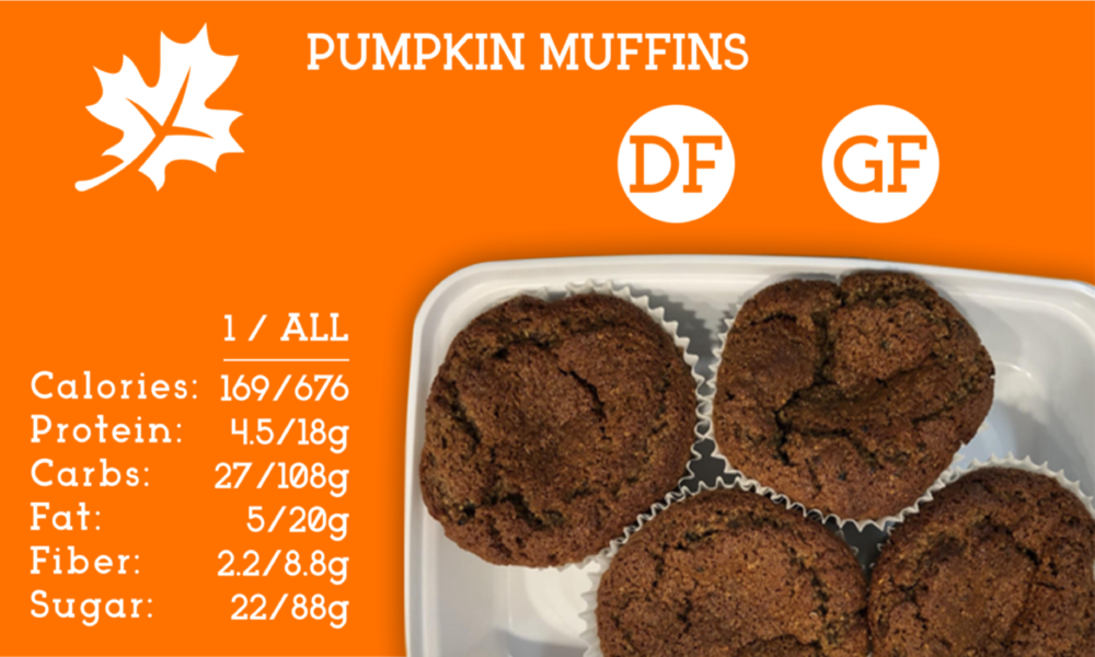 A healthy treat made with real pumpkin and naturally sweetened with agave nectar.  You can taste the flavor of fall.