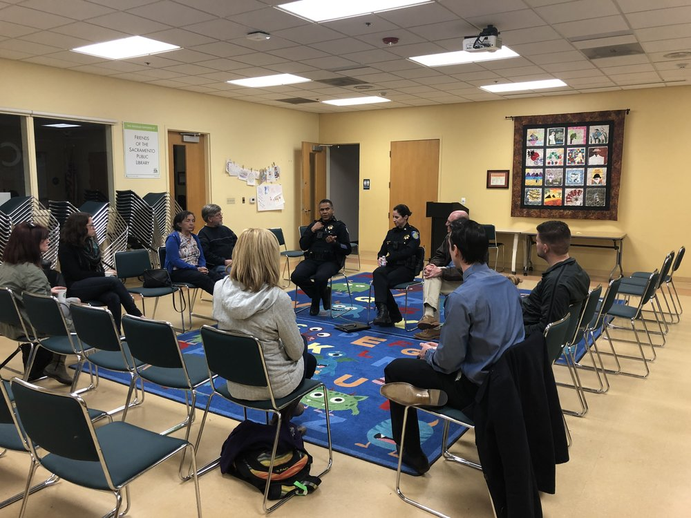cops and coffee at belle cooledge library