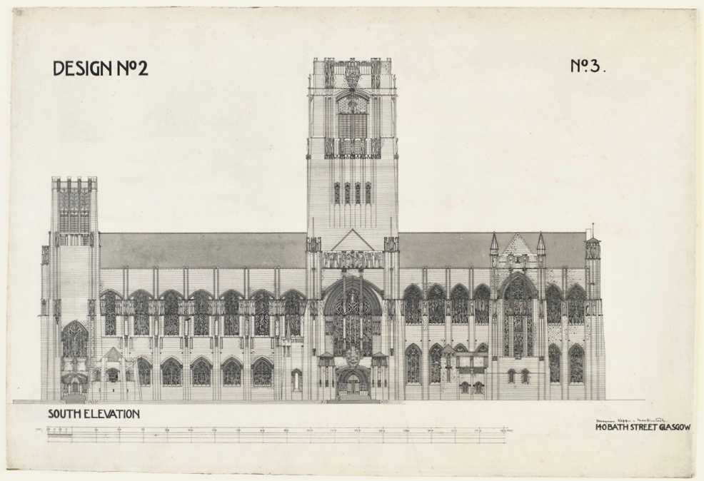 Mackintosh's design for Liverpool Cathedral