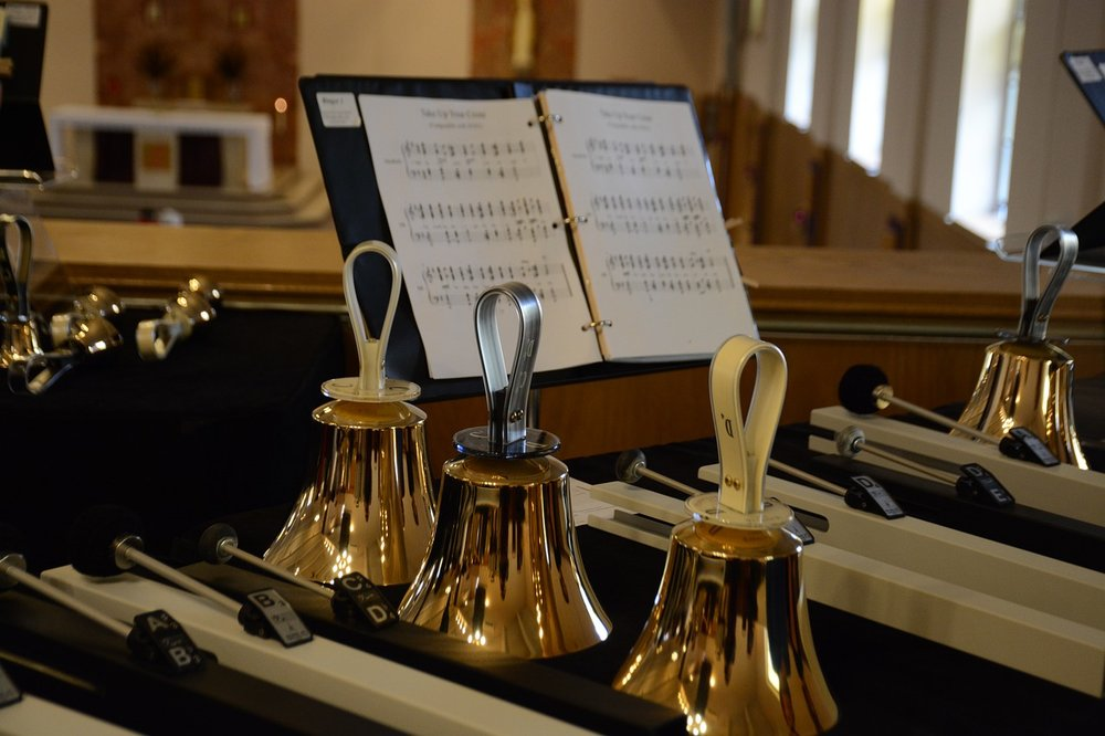 Glorious Bells - Rehearse and plays intermittently throughout the year.
