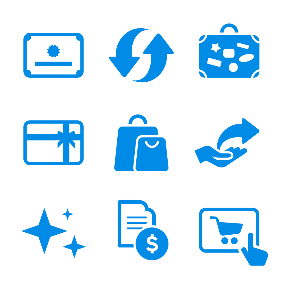 Iconography - We created an icon family to represent the many redemption options for users on the ThankYou Rewards website.