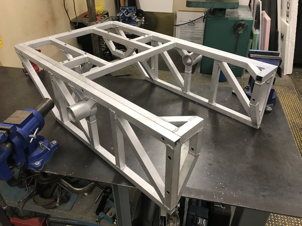 The complete frame assembly post welding