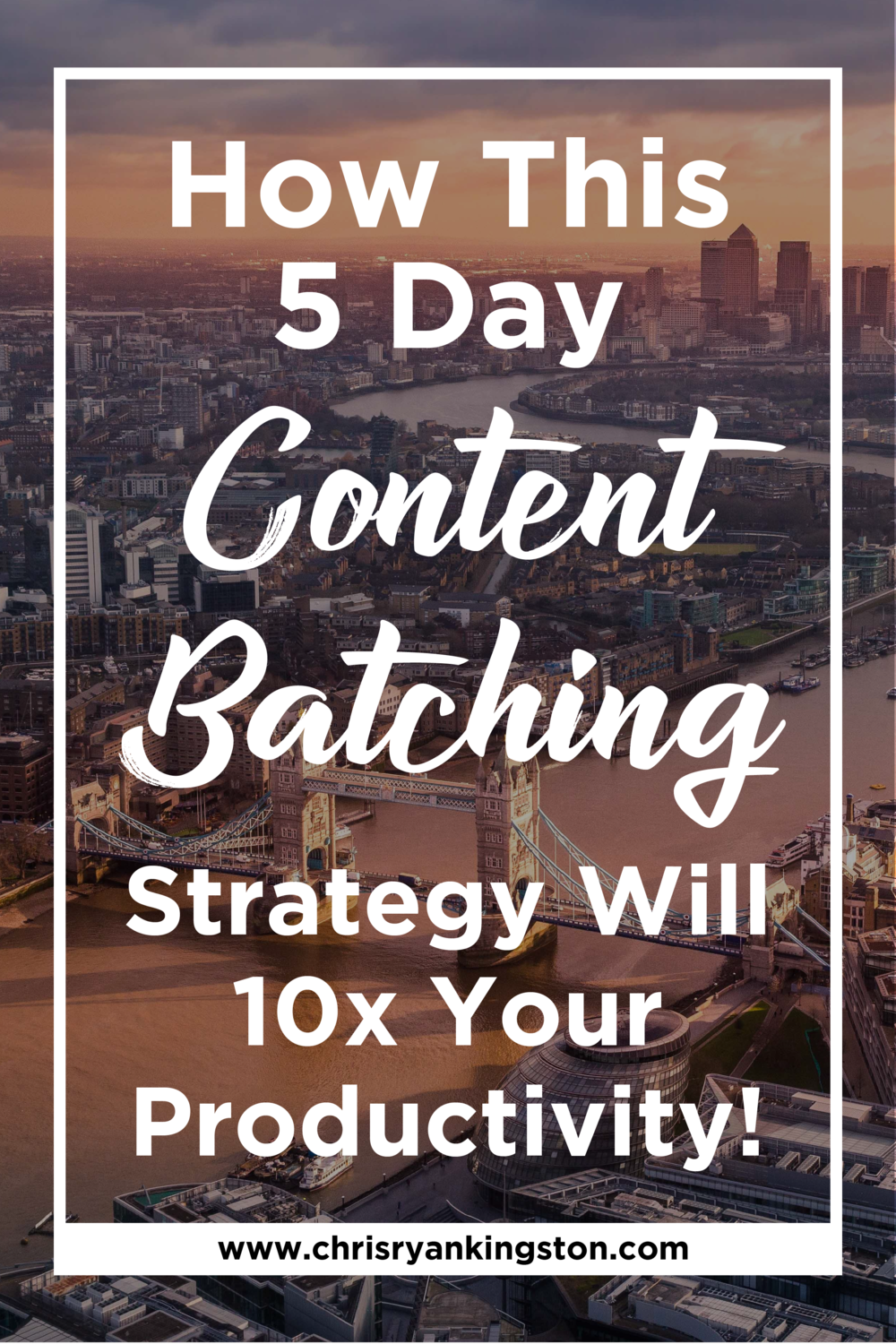 How This 5 Day Content Batching Challenge Will 10x Your Content Creation Productivity! | chrisryankingston.com
