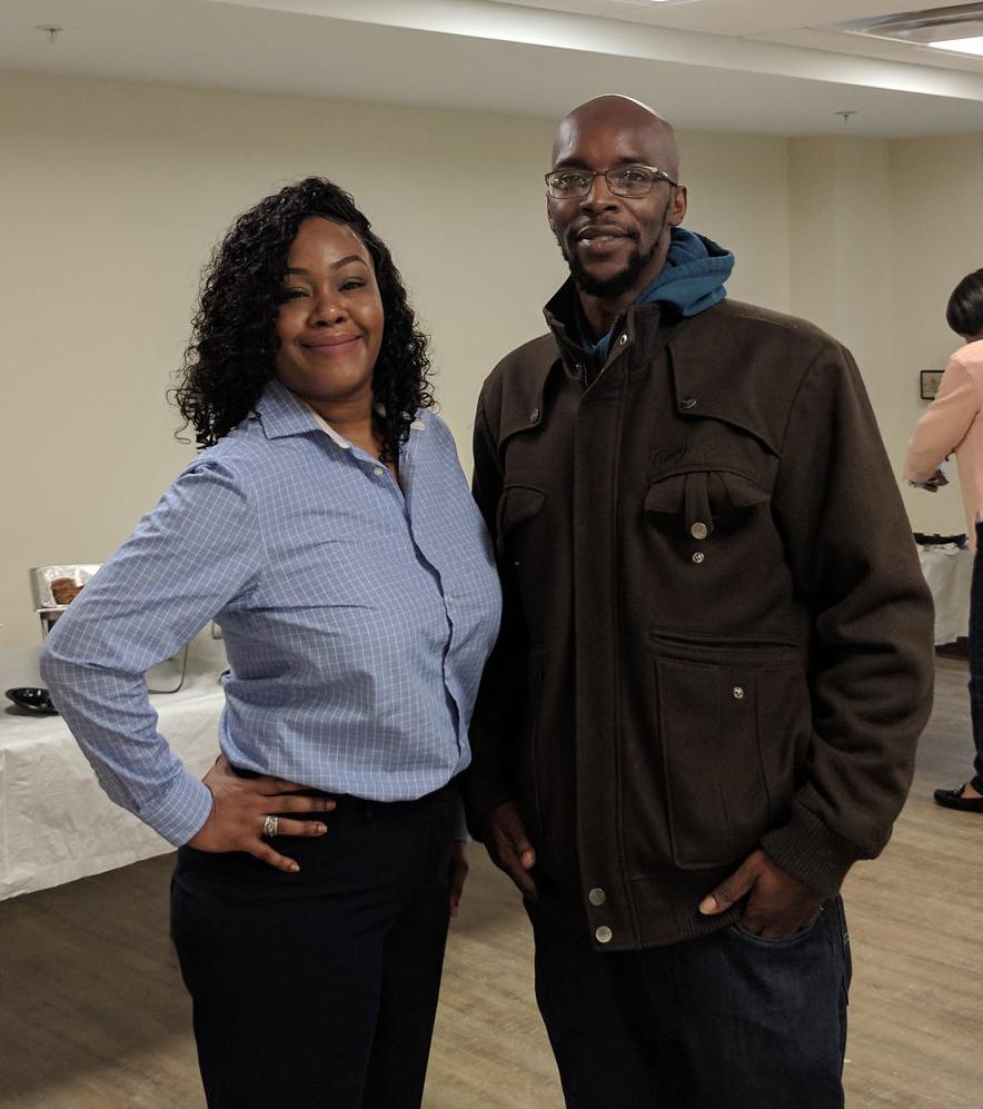 Faydra Williams and Derrick Clark