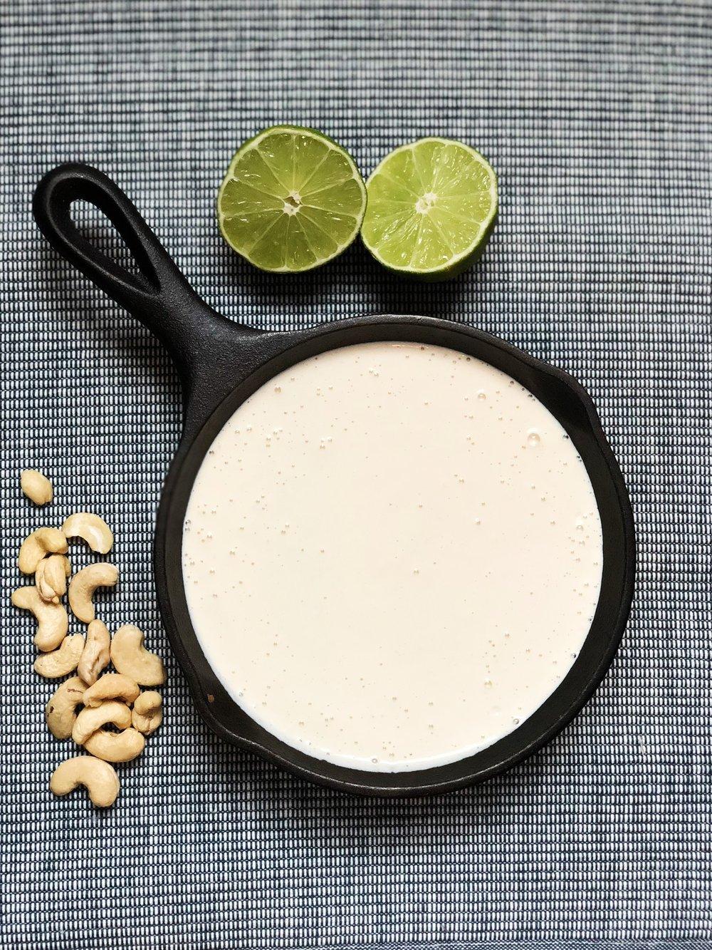 line & lee cashew cream sauce