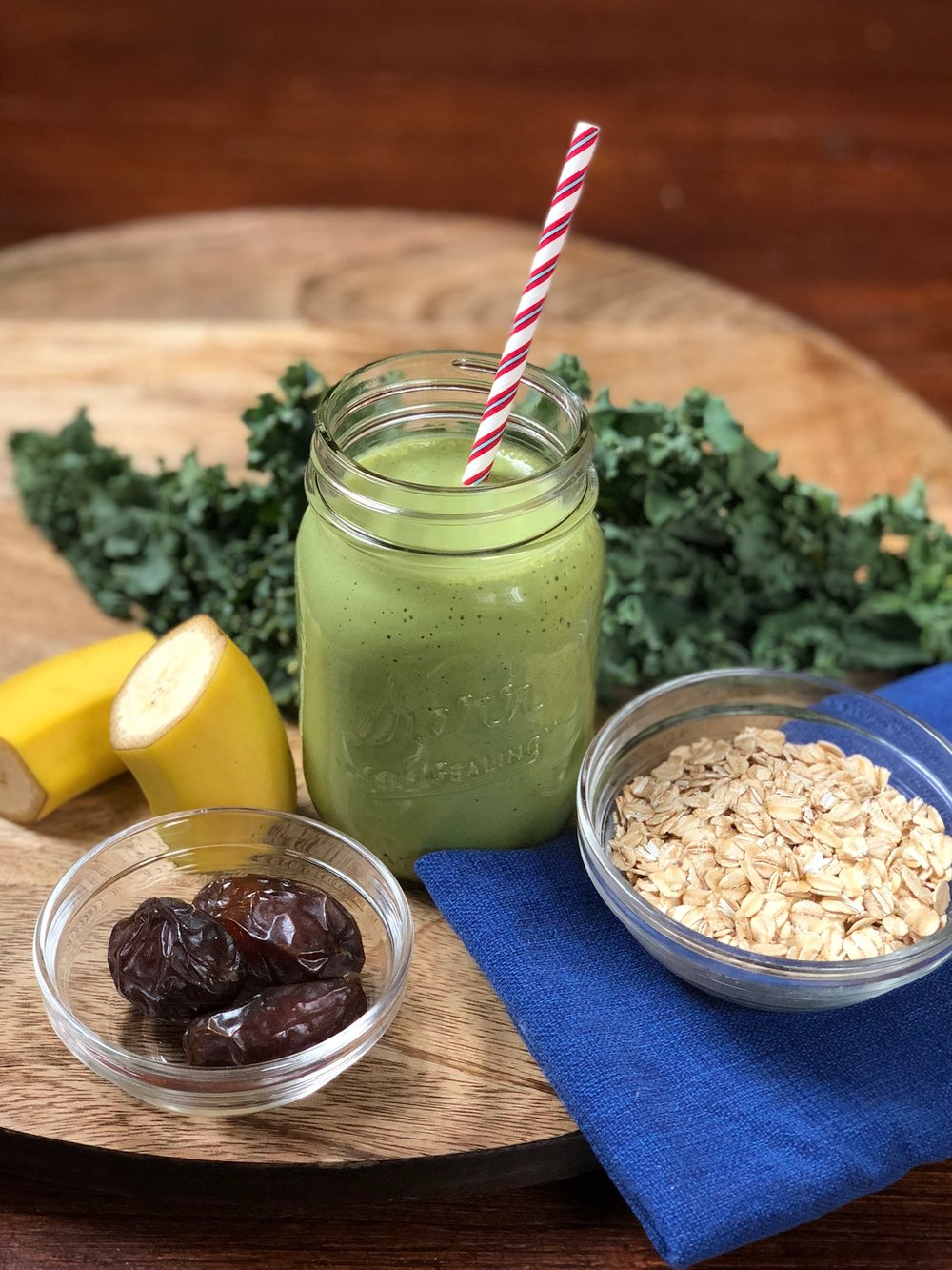 line & lee green protein smoothie