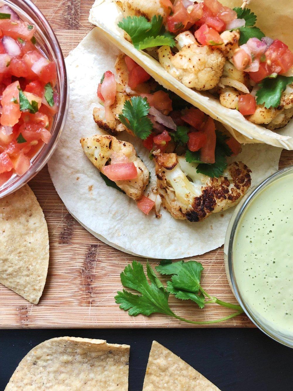 line & lee cauliflower tacos