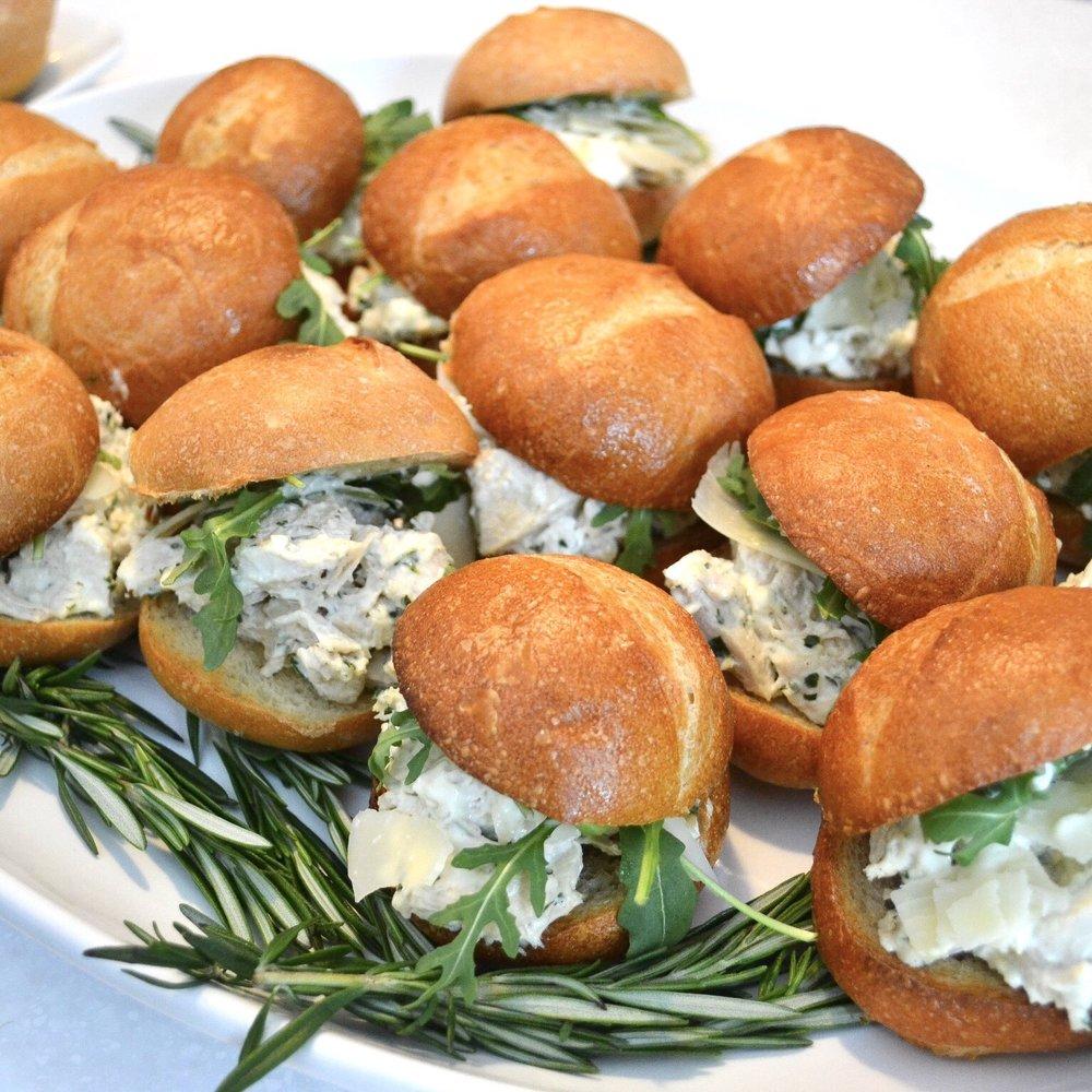 line & lee chicken caesar sandwiches
