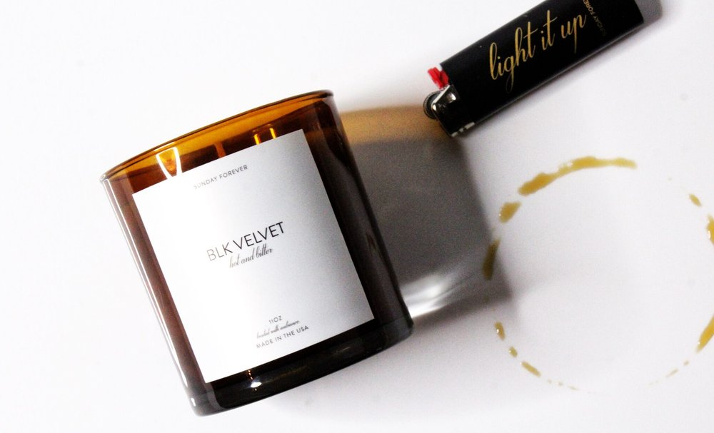 Sunday Forever BLK VELVET (hot & bitter) candle The Sunday Issue