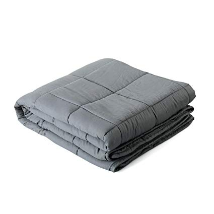 WEIGHTED ANXIETY BLANKET - Turns out the gift of tranquility isn't as expensive as we thought. We've recently gotten into weighted blankets and they're like the adult version of swaddling; womb-like, safe and comforting. We float into a slumber and stay there until morning. We haven't slept like this since childhood. Be warned, this blanket may induce I-don't-want-to-get-out-of-bed-anxiety. You will not want to leave your cozy cocoon.$89.99