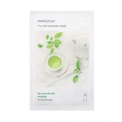 Innisfree Real Main Squeeze Green Tea Mask
