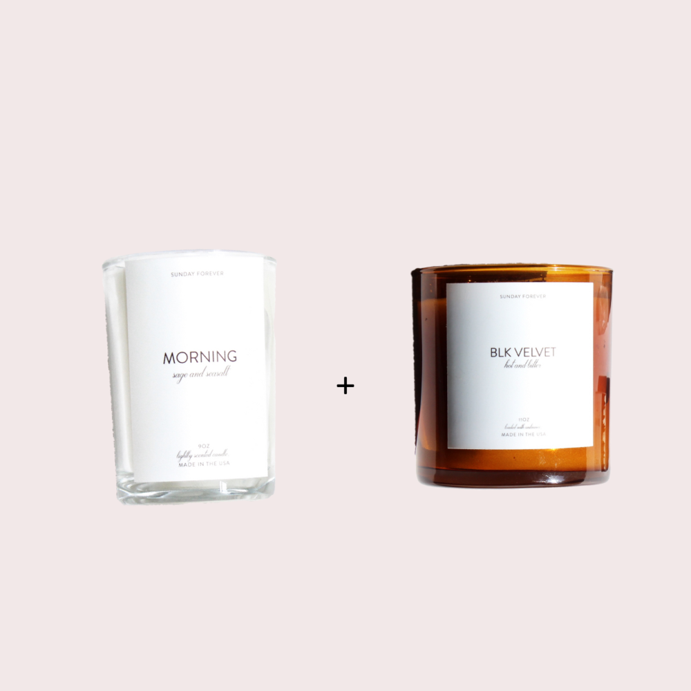 WHEN YOU'RE NOT A MORNING PERSON BUT YOU'RE TRYING TO BE - MORNING + BLK VELVETGetting out of bed in the morning is never a walk in the park, but wake up to the scents of MORNING and BLK VELVET and things might get a little easier. The freshness of MORNING mixed with the coffee-like hot and bitter notes of BLK VELVET will transform your morning mood.