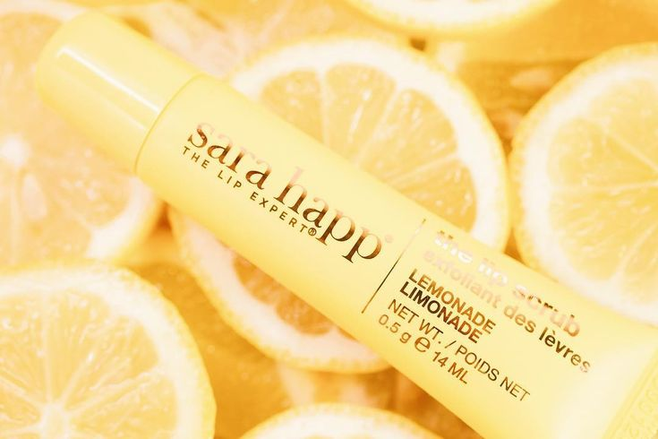 Sara Happ Lemonade Lip Scrub Tube - Sara Happ's new Lemonade Lip Scrub is refreshing and perfect for scrubbing away those dead skin cells and reveal a pretty pout. The citrus flavor is enough to make us leap out of bed in the morning.