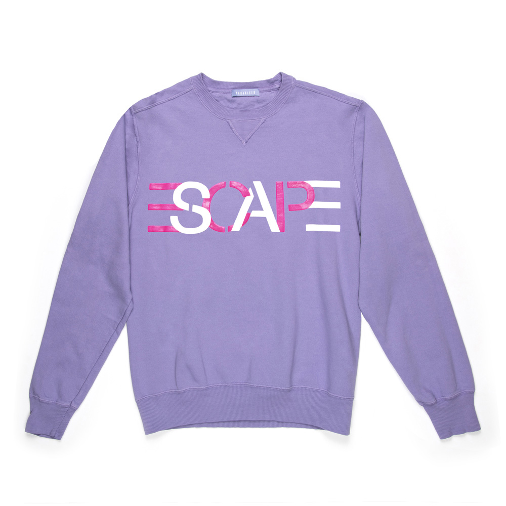 Paradised Escape Puff Crew - We know we did a wardrobe piece earlier, (if you missed it check it out here) but we had to include this Paradised Escape Puff Crew in this decadent lavender. We don't think there ever was a more perfect sweatshirt!