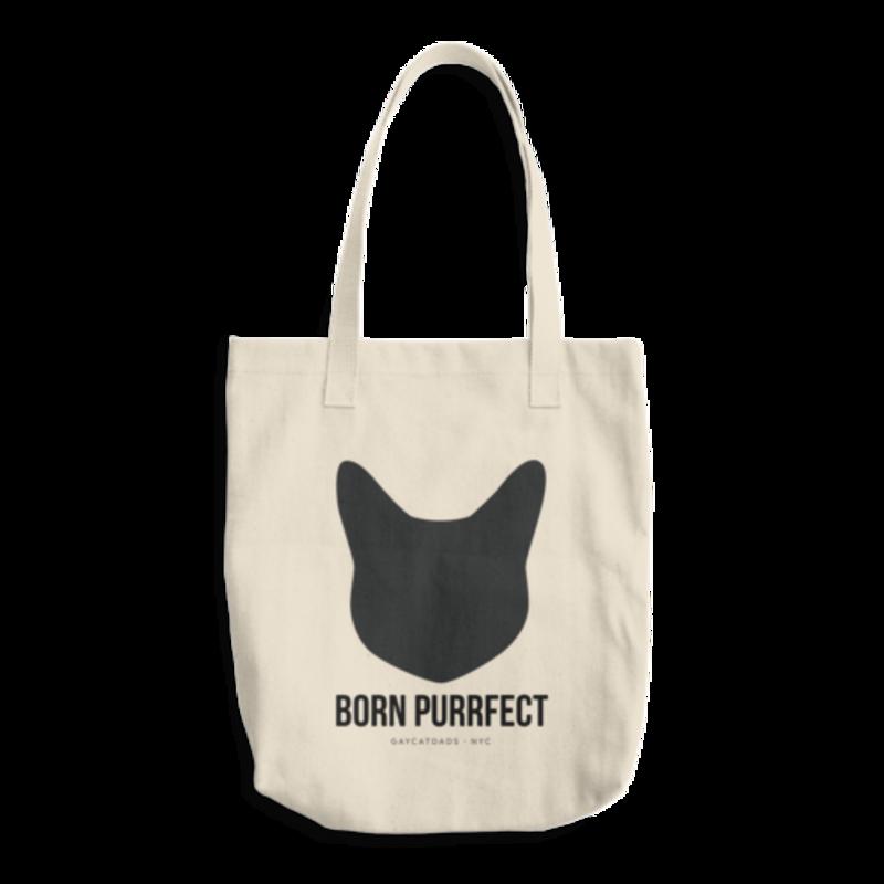 Born Purrfect Black Cat Tote