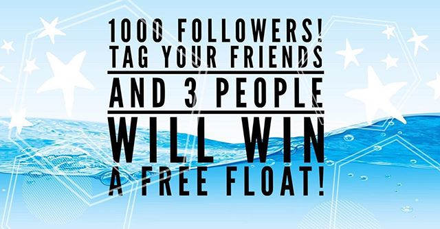 We are almost to 1000 followers!! Help us get there!  Tag your friends in the comments  and when we reach 1000 followers, we will randomly pick three winners to win a free float.  Tag your friends to enter! Our hearts are full of gratitude. @healingoneworld on Instagram! #freefloats #grateful #abundance #healingone #healingcenter #floatcenter #tagtoenter