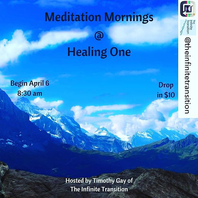 Repost from @theinfinitetransition using @RepostRegramApp - I'm excited to announce that I will be hosting meditation mornings at @healingoneworld beginning April 6! These sessions will be combining Theta Healing and guided meditation to provide a one of a kind interactive healing experience.  Register for the meditation by contacting Healing One at 775-499-5393. Space is limited so register immediately. Drop in meditation is only $10. We even have meditation session packages available: 3 for $25, 6 for $50, and 9 for $75. If you or someone you know is in the Reno area, I'd love to have you stop by. See you there!  #meditation #Reno #Nevada #selfreflection #introspection #mirrorwork #mindful #nonnegotiables #mindfulness #wellness #spiritual #holistic #selfcare #ThetaHealing #mentalhealth #emotionalhealth #WUVIP #WUWorldChanger