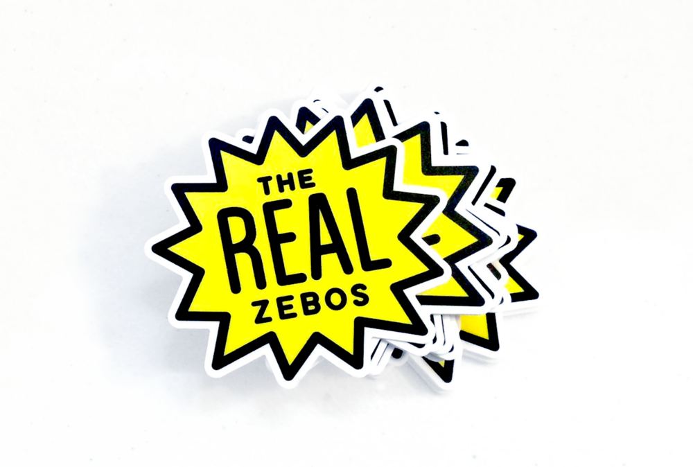 Stickers created for  The Real Zebos , a great band that you should totally check out!