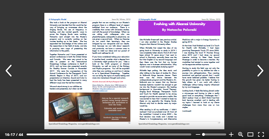 Click Here to Read - on https://issuu.com/specializedkinesiologymagazine