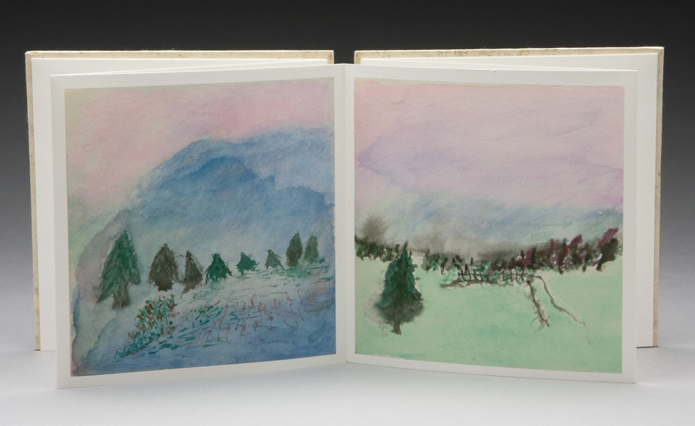 Two of the many watercolors that Marion completed, archival inkjet reproduction.