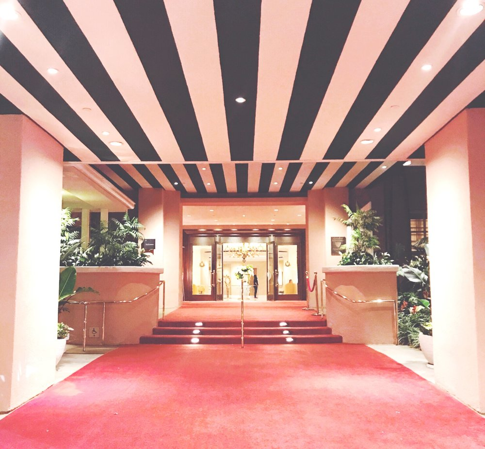 The iconic entrance to the Beverly Hills Hotel