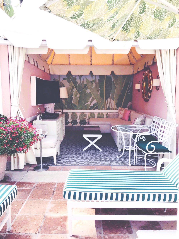 A cabana at the BHH