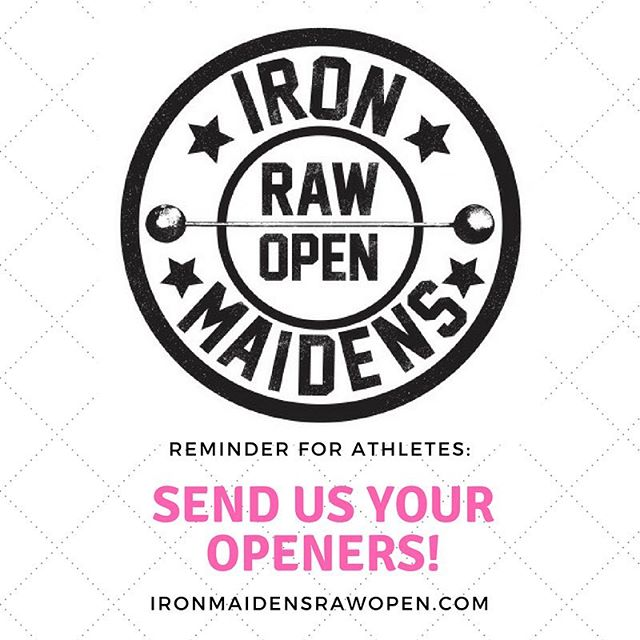 Athletes: don't forget to send in your opening attempts for all three lifts by this Thursday, May 31. 💪🏻💪🏻💪🏻 #imstrong2018