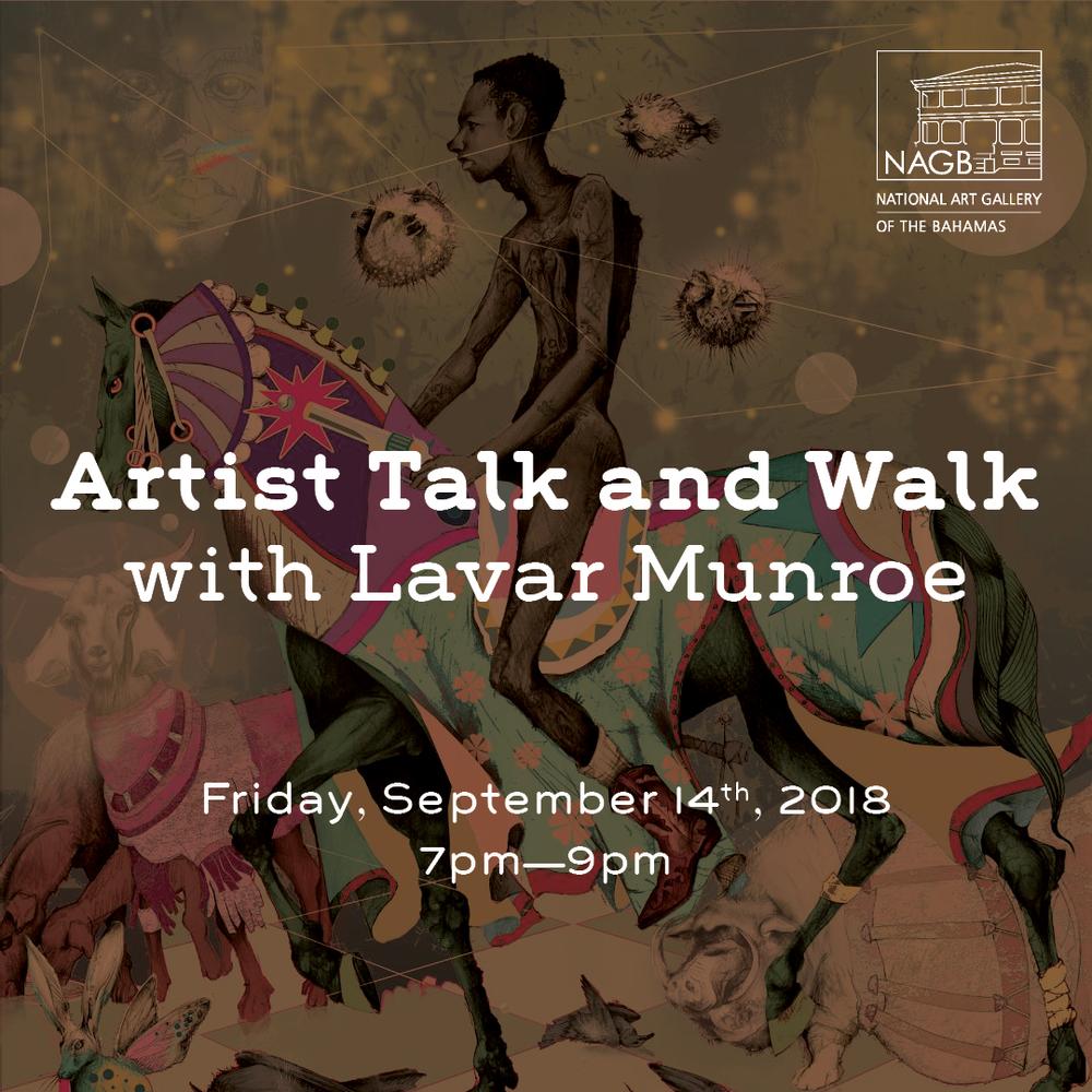 Lavar Munroe Artist Talk and Walk