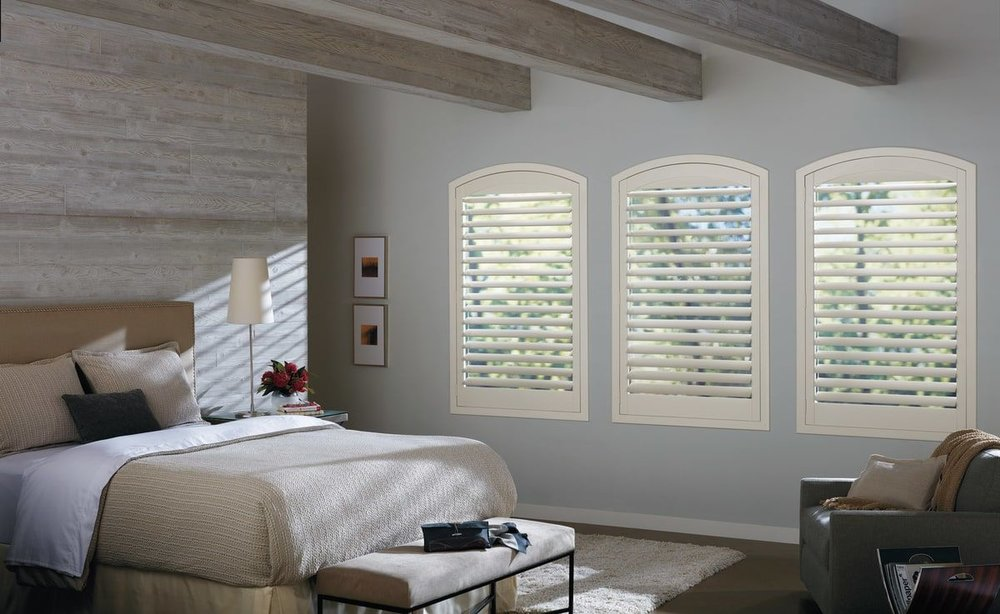 White Shutters for Master Bedroom