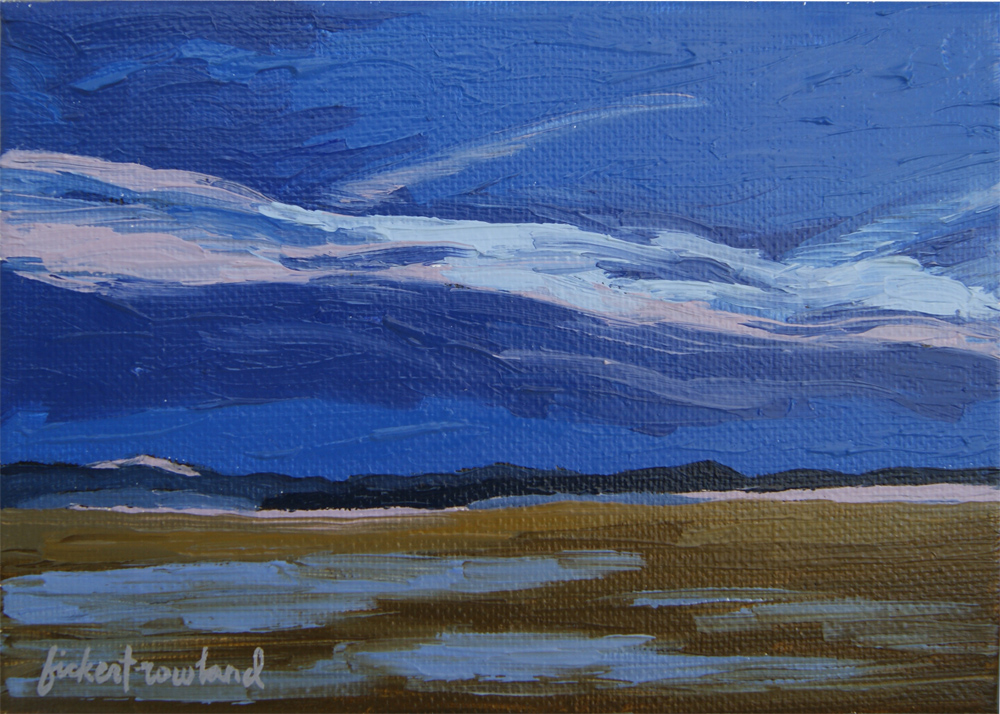 """Dusk, South Park Basin, CO""  5 in x 7 in"