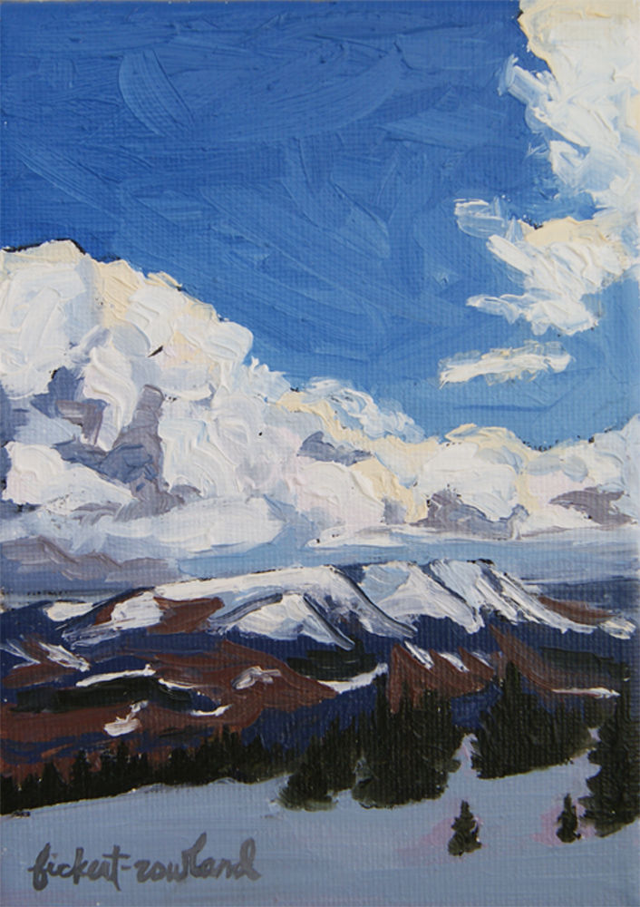 """Approaching Storm, Breckenridge, CO""  5 in x 7 in"