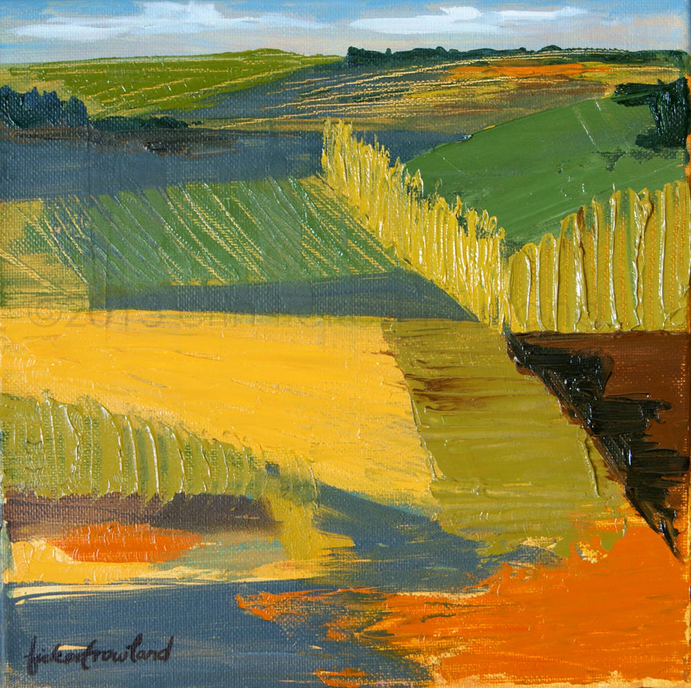 """Crop Fields""  10 in x 10 in"