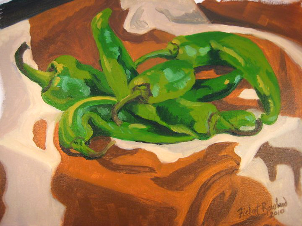 """Longhorn Chiles""  11 in x 14 in"