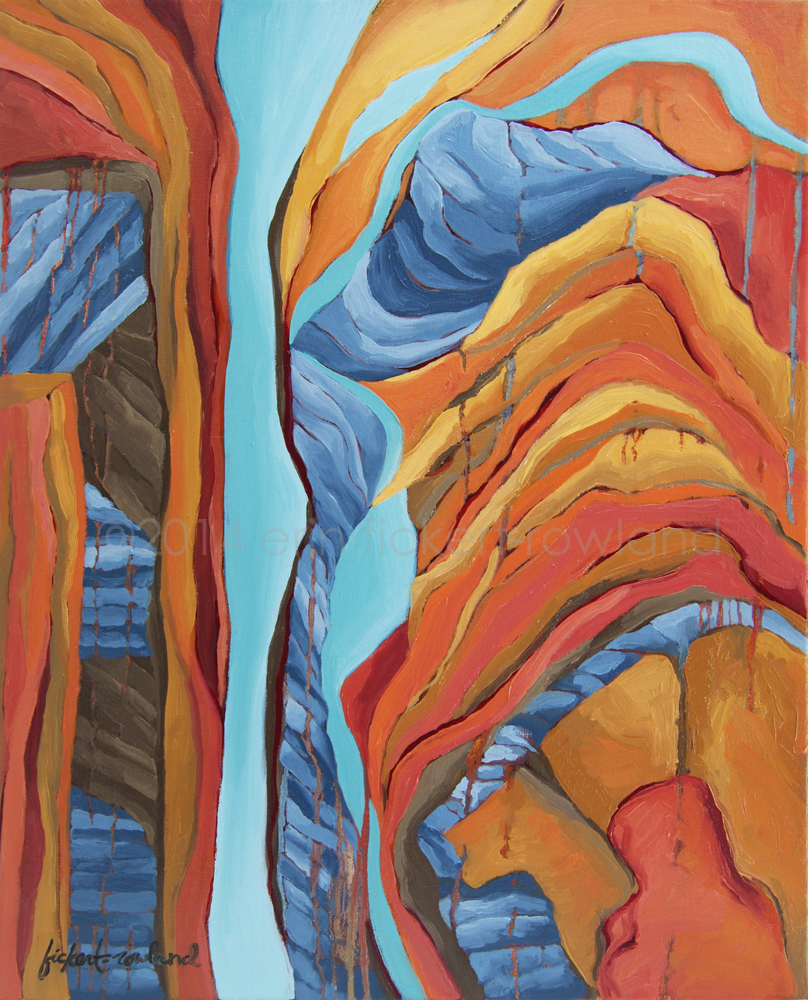"""The Rocks Cried Out, Zion""  16 in x 20 in"