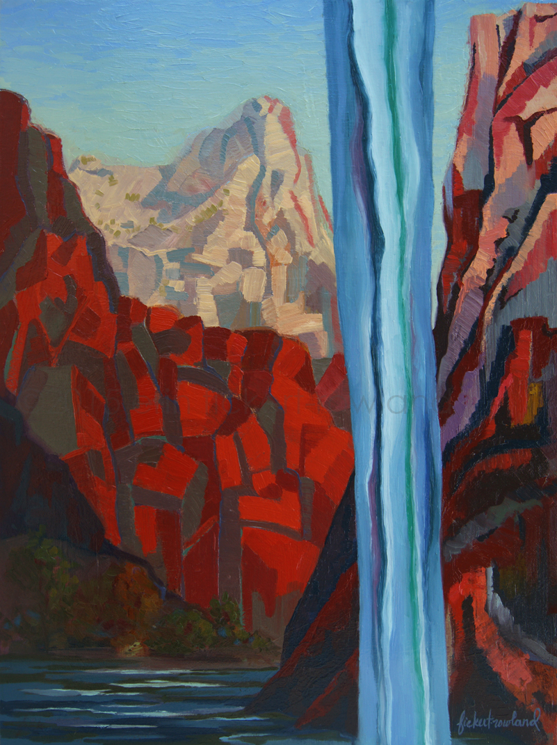 """Through the Narrows, Zion National Park""  18 in x 24 in"