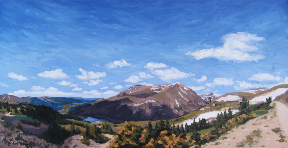 """Hoosier Pass, CO""  36 in x 18 in"