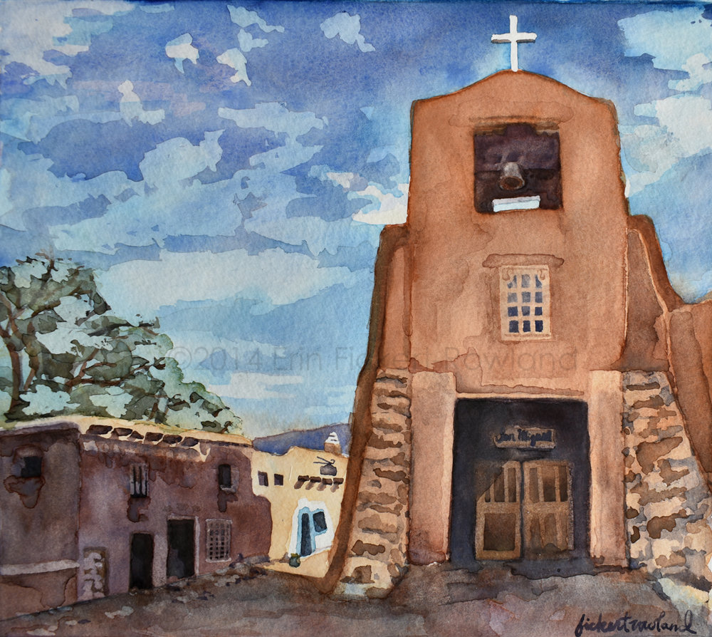 """Barrio de Analco, Santa Fe""  8 in x 8 1/2 in  Unmatted"