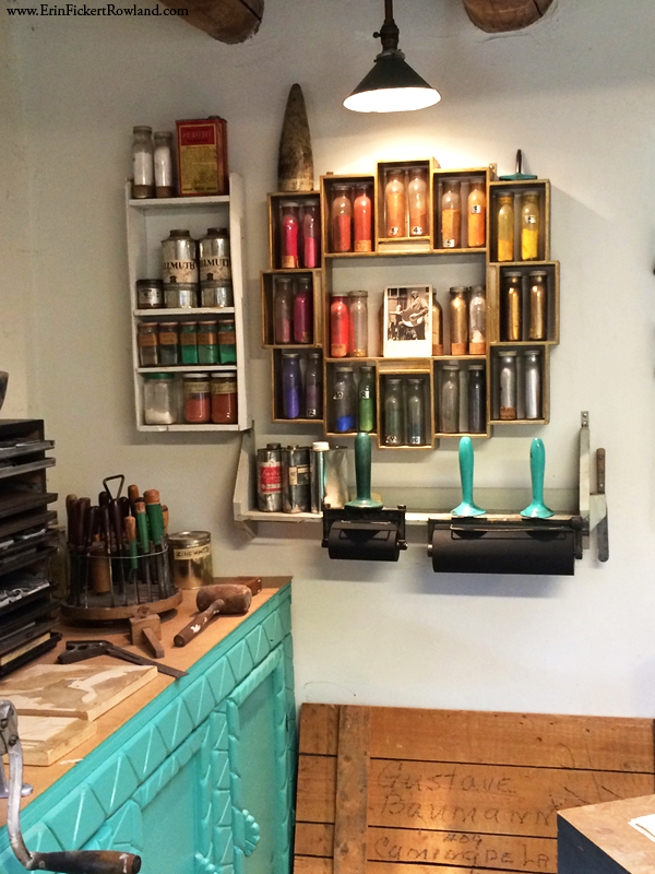 Recreated studio of printmaker Gustave Baumann at Palace of the Governors