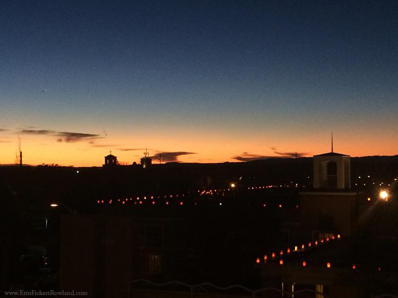 Santa Fe Sunset and luminaries