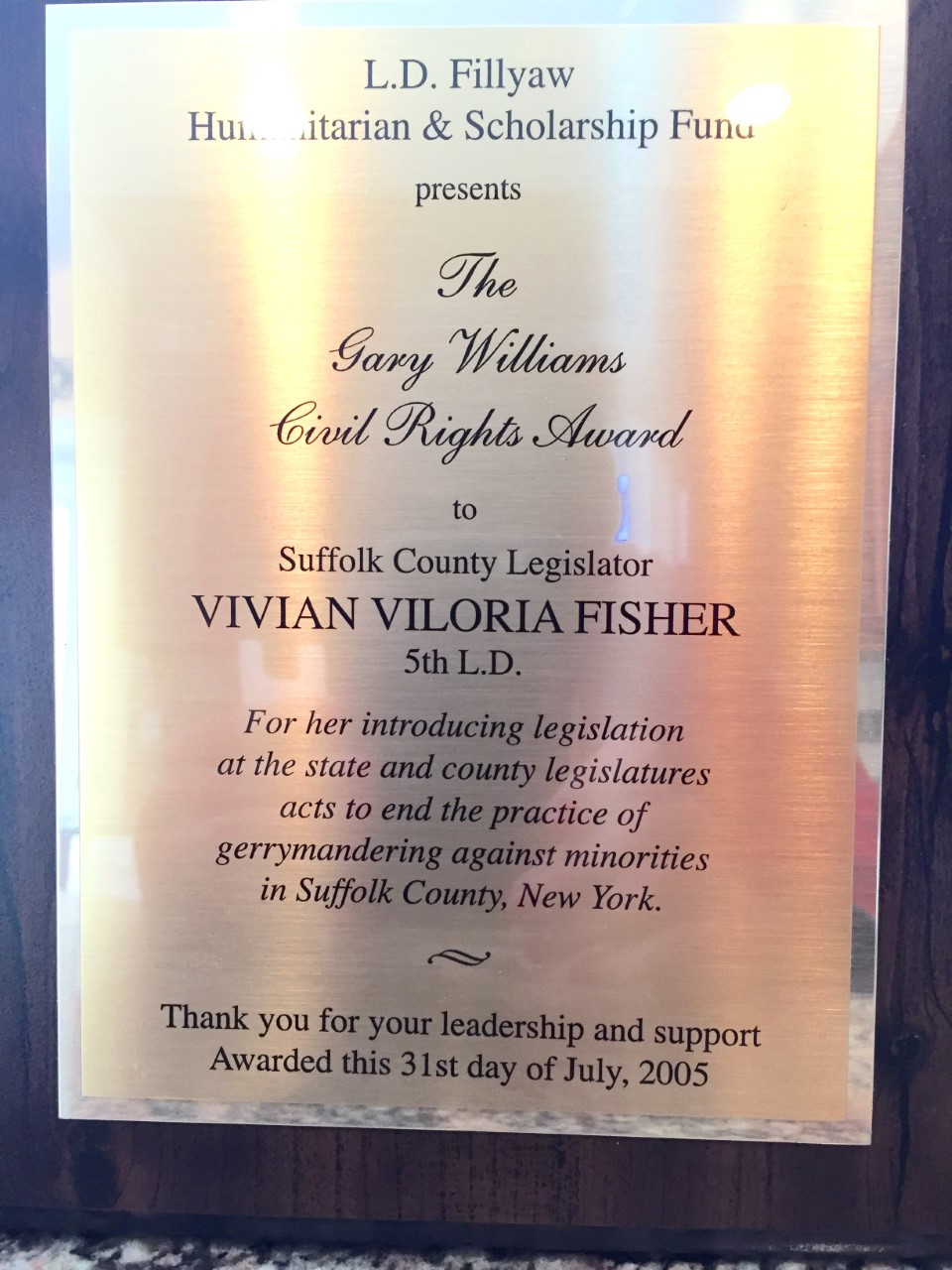 The Gary Williams Civil Rights Award (2005)